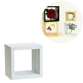 ボックス型フレーム 3スライドBOX フロート10角 106-034 ホワイト