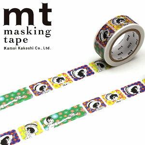 マスキングテープ mt カモ井加工紙 手塚キャラクターズ リボンの騎士xフラワーパターン(18mm×7m)MTTOPR02