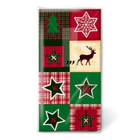 【クーポン配布中】クリスマス ペーパーナプキン 1209X クリスマスパッチワーク 21x21cm(10枚入り)
