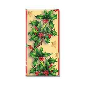 【クーポン配布中】クリスマス ペーパーナプキン 1258X ホリーボーダー 21x21cm(10枚入り)