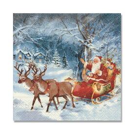 【クーポン配布中】クリスマス ペーパーナプキン ペーパータオル L60642X ホワイトウィンター 33x33cm(20枚入り)