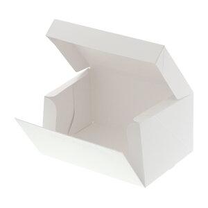 箱 ケーキ箱 HEIKO シモジマ 食品包材 サイドオープンケーキ箱 3号 白 ポケット付 10枚