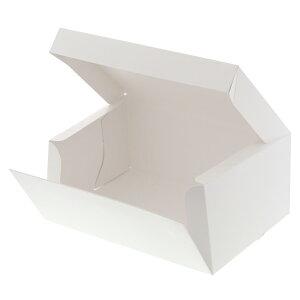 箱 ケーキ箱 HEIKO シモジマ 食品包材 サイドオープンケーキ箱 4号 白 ポケット付 10枚