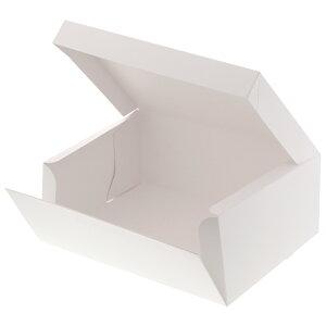 箱 ケーキ箱 HEIKO シモジマ 食品包材 サイドオープンケーキ箱 5号 白 ポケット付 10枚