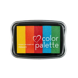 【クーポン配布中】スタンプパッド ツキネコ カラーパレット5色コンビ CP-501 プライマリー