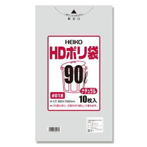 ヘイコー HDゴミ袋 90L 10枚 006604001 [半透明]