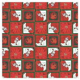クリスマス ラッピング 包装紙 半才 ラッピングペーパー HEIKO シモジマ スノーマンタイル 50枚入