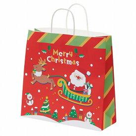 クリスマス ラッピング 紙袋 手提げ HEIKO シモジマ 25チャームバッグ 25CB カスタムB メリーパレード 50枚入