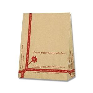 紙袋 角底袋 HEIKO シモジマ ケーキバッグ 小ルバン レッド(100枚入) ラッピング ギフト プレゼント 梱包