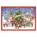 クリスマスカード APJ/アートプリントジャパン ミニサンタ グリーティングカード XC-1000083144(1枚入り・封筒付き)