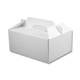 箱ケーキ箱HEIKOシモジマ食品包材Nキャリーケースホワイト18x24(25枚入)