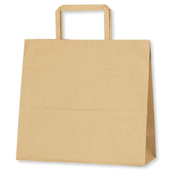 紙袋 手提げ HEIKO シモジマ H25チャームバッグ(25CB) 26-1(平手) 未晒無地(クラフト紙)(50枚入)