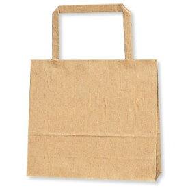 紙袋 手提げ HEIKO シモジマ H25チャームバッグ(25CB) 18-2(平手) 未晒無地(クラフト紙)(50枚入)