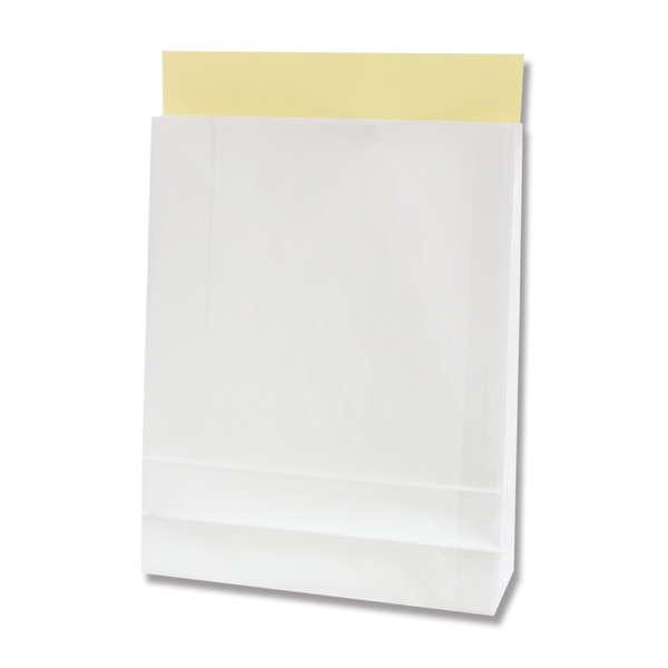 紙袋 宅配袋 HEIKO シモジマ B4対応!ホワイティバッグ 幅320×マチ110×高さ410mm(10枚入り)