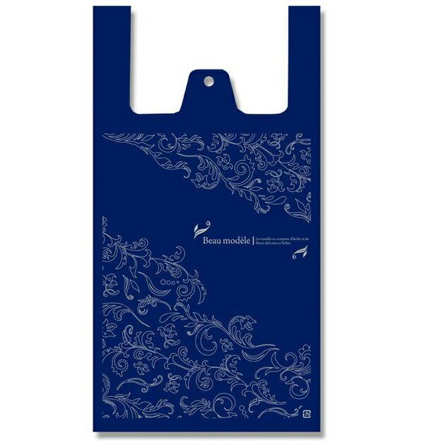 レジ袋 ビニール袋 HEIKO シモジマ ハンドハイパー L アラベスクNY(100枚入り)