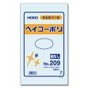 透明ビニール袋 HEIKO/シモジマ ヘイコーポリ(ポリ袋) No209(厚0.02mm・100枚入り)
