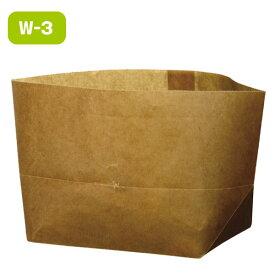 【クーポン配布中】ワックスペーパーバッグ 紙袋 ロー引き袋 亀底 W-3(100枚入り) ラッピング
