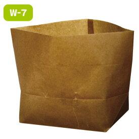 ワックスペーパーバッグ 紙袋 ロー引き袋 亀底 W-7(100枚入り)