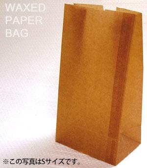 ワックスペーパーバッグ 紙袋 ロー引き袋 角底 L(20枚入り)