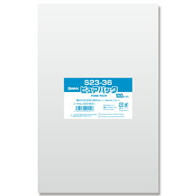 OPP袋 ピュアパック S23-36 (テープなし) 100枚 透明袋 梱包袋 ラッピング ハンドメイド