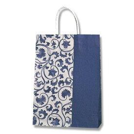 紙袋 A4サイズ対応 手提げ HEIKO シモジマ スムースS−100 アイゾメ ラッピング
