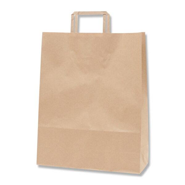 紙袋 手提げ HEIKO シモジマ H25チャームバッグ(25CB) 2才(平手) 未晒無地(クラフト紙)(50枚入)
