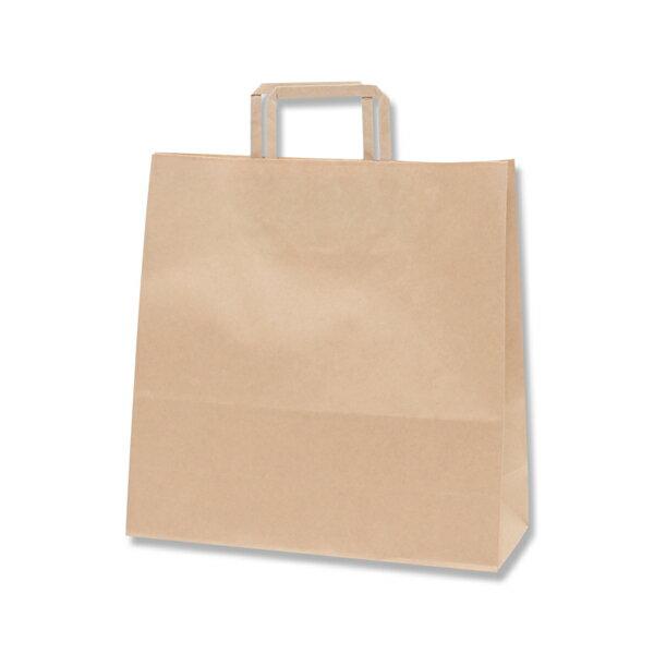 紙袋 手提げ HEIKO シモジマ H25チャームバッグ(25CB) 3才(平手) 未晒無地(クラフト紙)(50枚入)