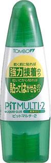 トンボ 液体のり ピットマルチ・2 (弱粘着・強粘着兼用)