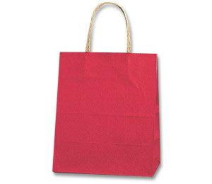 紙袋 手提げ HEIKO シモジマ 25チャームバッグ(25CB) 21-12 未晒カラー無地 赤C(50枚入)
