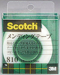 Scotch スコッチメンディングテープ 810-1-18C 18mm x 30m