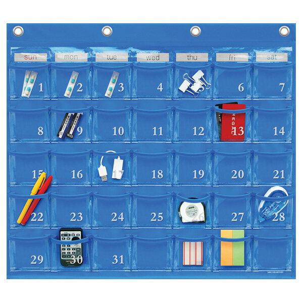 SAKIウォールポケット レザー調PVC(塩ビ)×クリアー カレンダーポケット(Mサイズ) 35ポケットBLW-416