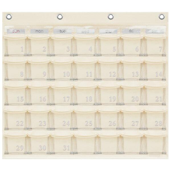 SAKIウォールポケット レザー調PVC(塩ビ)×クリアー カレンダーポケット(Mサイズ) 35ポケットOWW-416