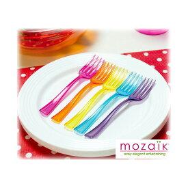 フォーク モザイク Mozaik Mozaik Walk Plate 5set プラスチック製 カラフルミニフォーク&ミニプレート5セット MZCMPF5MX