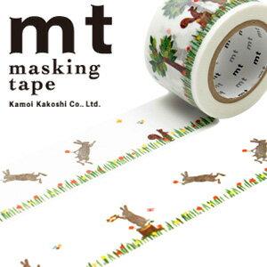 マスキングテープ mt カモ井加工紙 mt ex 1p 重ねるテープ・うさぎ&りす(30mmx10m)MTEX1P72