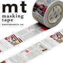 マスキングテープ mt カモ井加工紙 mt ex 1p 英字新聞(30mmx10m)MTEX1P75