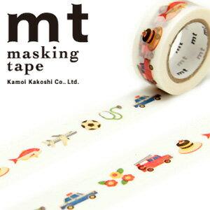 マスキングテープ マステ mt カモ井加工紙 mt for kids 1p work・どうぐ (15mmx7m ミニ紙管)MT01KID017