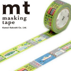 マスキングテープ マステ mt カモ井加工紙 mt for kids 1p work・まち (15mmx7m ミニ紙管)MT01KID018