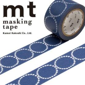 マスキングテープ mt カモ井加工紙mt x ミナ ペルホネン1p tambourine petit・navy(25mmx10m)MTMINA21