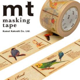 マスキングテープ  mt カモ井加工紙 mt ex 1p 図鑑・鳥(30mmx10m)MTEX1P90