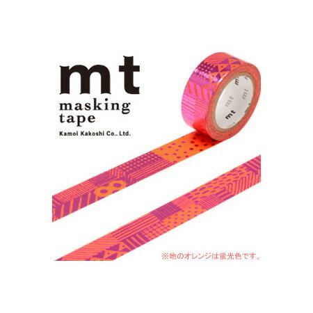 最終特価!マスキングテープ マステ mt カモ井加工紙 mt fab 1p 手描き柄(15mmx5m ミニ紙管)MTHK1P03
