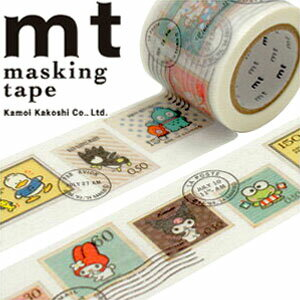 マスキングテープ マステ mt カモ井加工紙 mt×サンリオ 切手・サンリオ(40mmx10m)MTSARI06