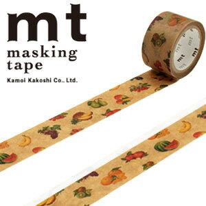 マスキングテープ マステ mt カモ井加工紙 mt fab ワックスペーパーテープ 1p フルーツ(20mmx3m ミニ紙管)MTWX1P03