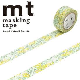 マスキングテープ mt カモ井加工紙mt fab フロッキーテープ1p 菜の花(15mmx3m ミニ紙管)MTFL1P03