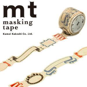 マスキングテープ マステ mt カモ井加工紙 mt fab 型抜きテープ 1p リボン(20mmx3m ミニ紙管)MTKT1P02