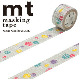 マスキングテープ マステ mt カモ井加工紙 mt fab スクリーン印刷 1p マルとセン(20mmx3m ミニ紙管)MTSC1P01