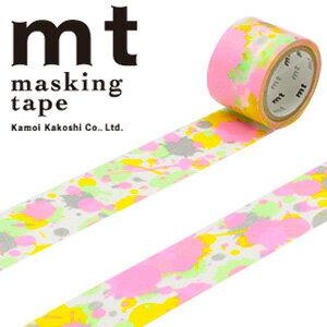 マスキングテープ マステ mt カモ井加工紙 mt fab スクリーン印刷 1p ペイント(25mmx3m ミニ紙管)MTSC1P03