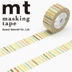 マスキングテープ マステ mt カモ井加工紙 mt for kids しましま (15mmx7m ミニ紙管)MT01KID019