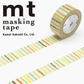 マスキングテープ  mt カモ井加工紙 mt for kids しましま (15mmx7m ミニ紙管)MT01KID019