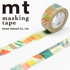 マスキングテープ マステ mt カモ井加工紙 mt for kids ぺたぺた (15mmx7m ミニ紙管)MT01KID020