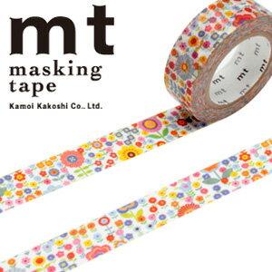 マスキングテープ mt カモ井加工紙 mt ex 1p 小花・花畑(15mmx10m)MTEX1P101